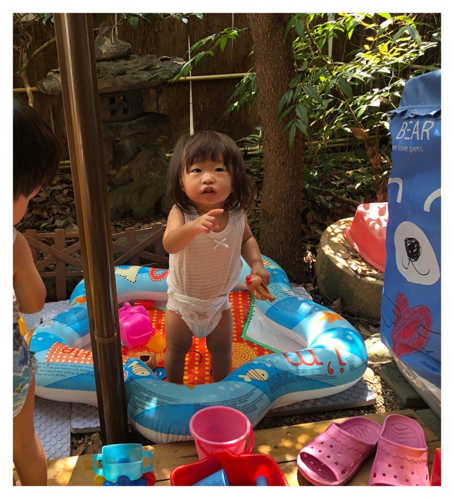 水遊び始まりました!